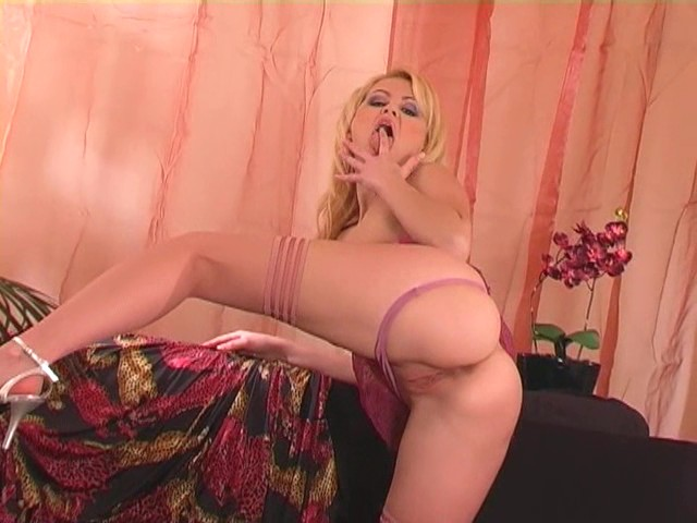Blonde panty play and pussy fingering